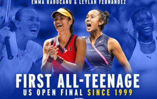 В финале женской сетки US Open сыграют теннисистки 2002 года рождения
