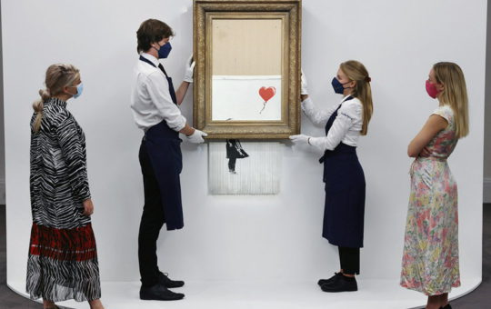 Поврежденная картина Бэнкси продана за рекордную цену